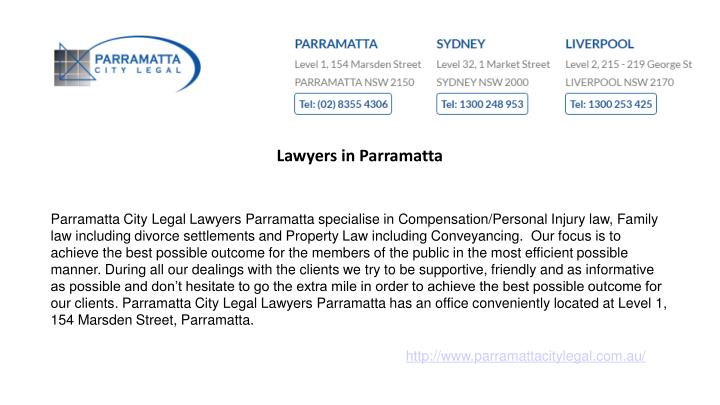 Lawyers in Parramatta