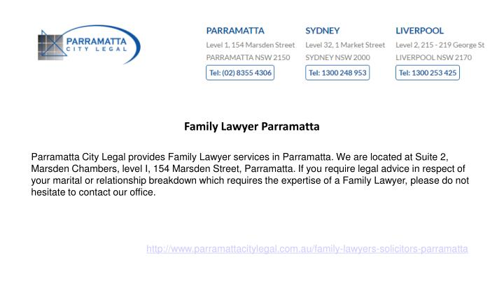 Family Lawyer Parramatta