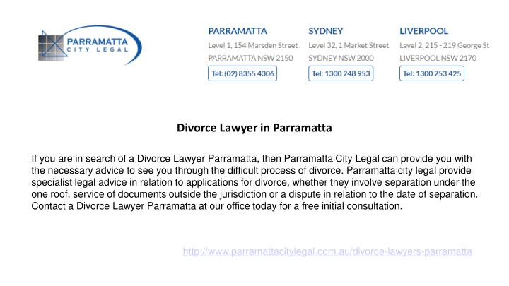Divorce Lawyer in Parramatta