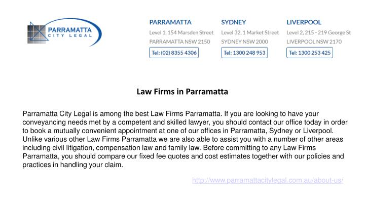 Law Firms in Parramatta