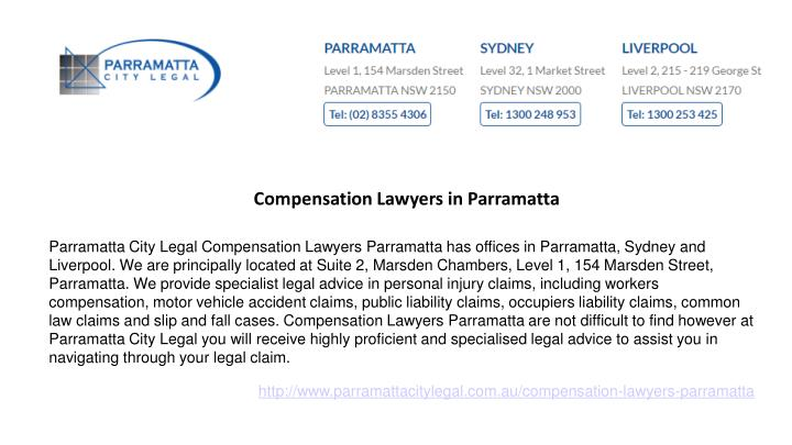Compensation Lawyers in Parramatta