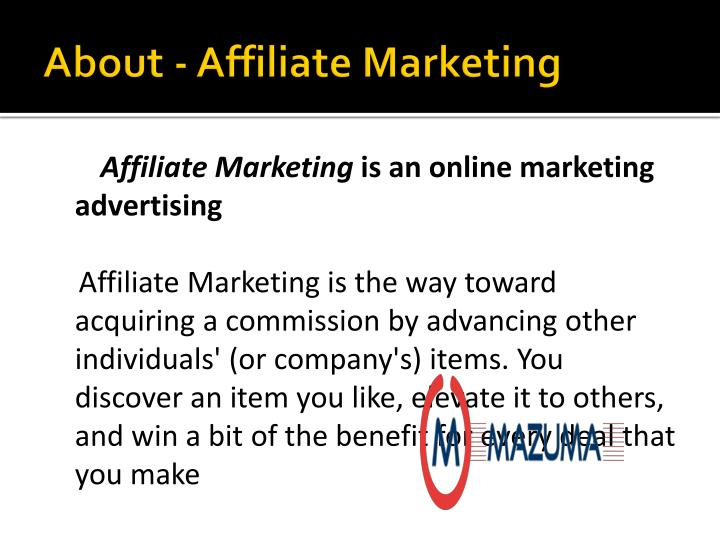 About affiliate marketing