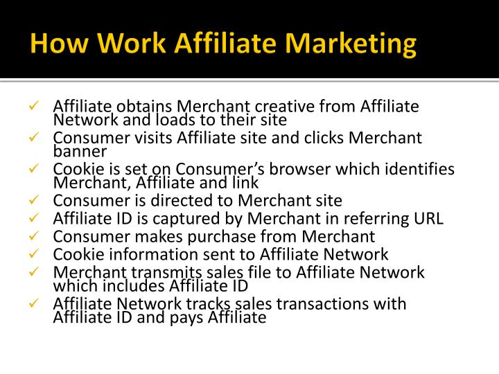 How Work Affiliate Marketing