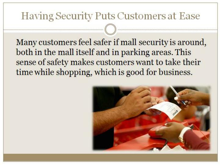 5 reasons shopping malls should have security guards