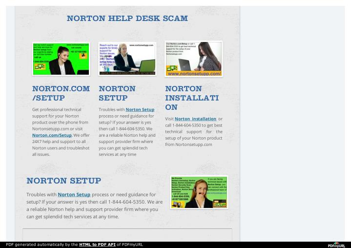 NORTON HELP DESK SCAM
