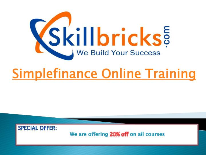 Simplefinance online training