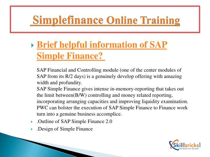 Simplefinance