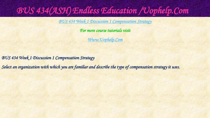 Bus 434 ash endless education uophelp com2