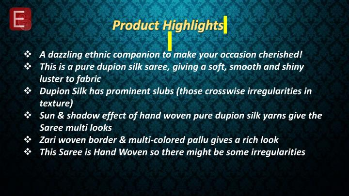 Product Highlights