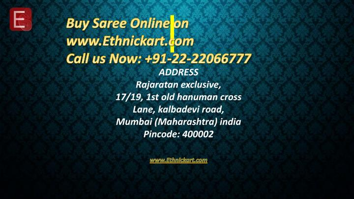 Buy Saree Online on www.Ethnickart.com