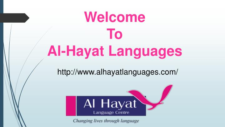Welcome to al hayat languages