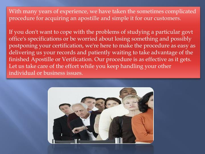 With many years of experience, we have taken the sometimes complicated procedure for acquiring an