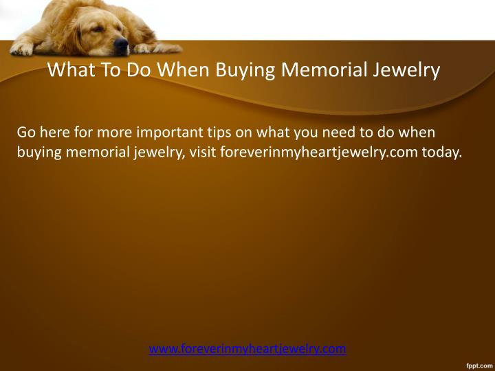 What To Do When Buying Memorial Jewelry