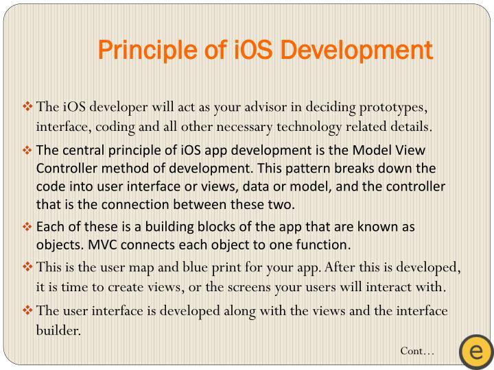 Principle of iOS Development