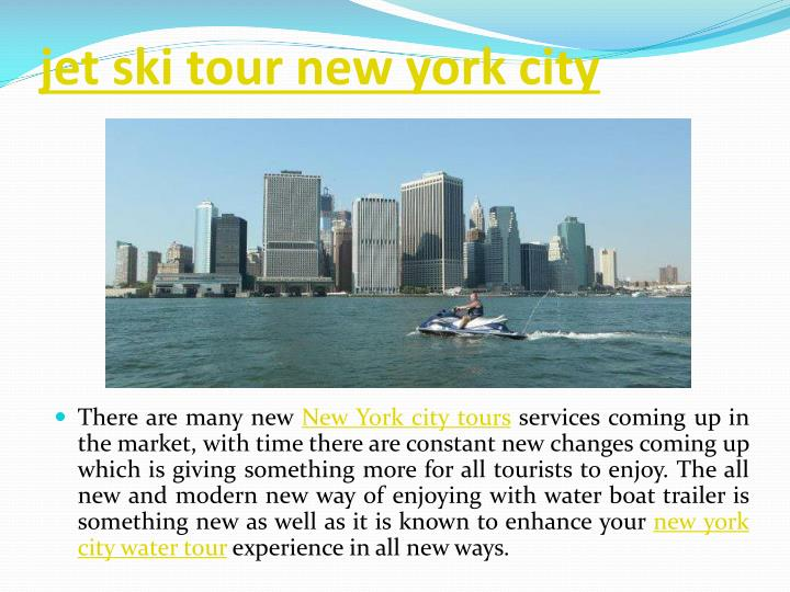 jet ski tour new york city