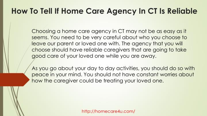 How to tell if home care agency in ct is reliable1
