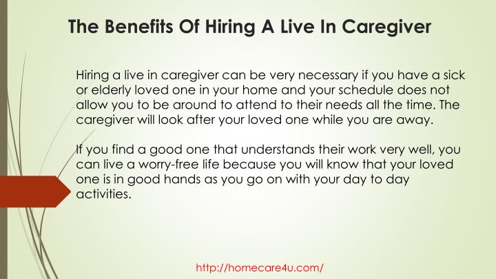 The benefits of hiring a live in caregiver1