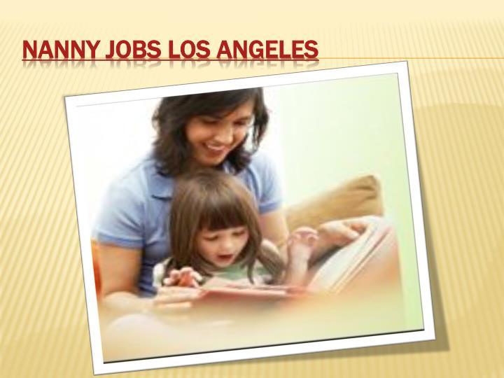 Nanny Jobs Los Angeles