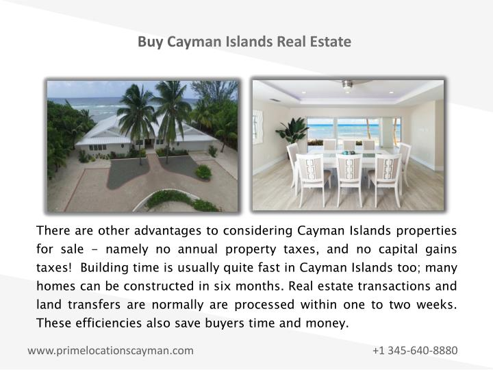Buy Cayman Islands Real Estate