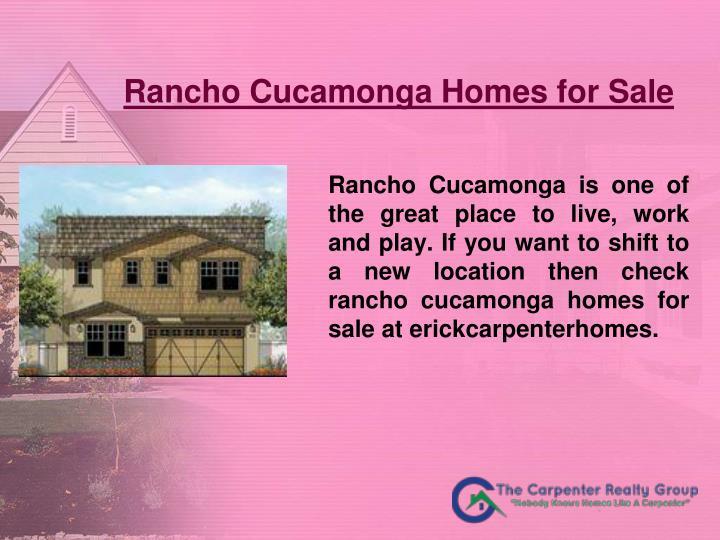 Rancho Cucamonga Homes