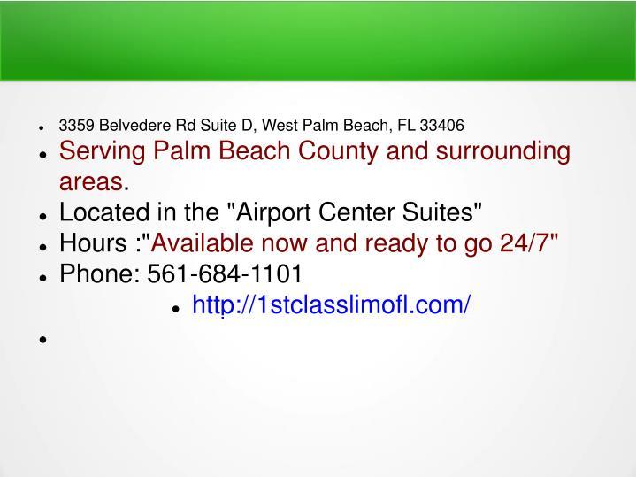 3359 Belvedere Rd Suite D, West Palm Beach, FL 33406