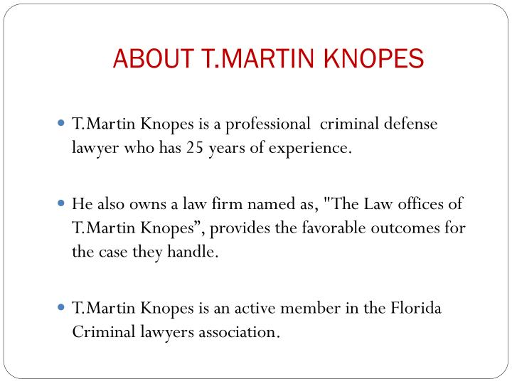 ABOUT T.MARTIN KNOPES