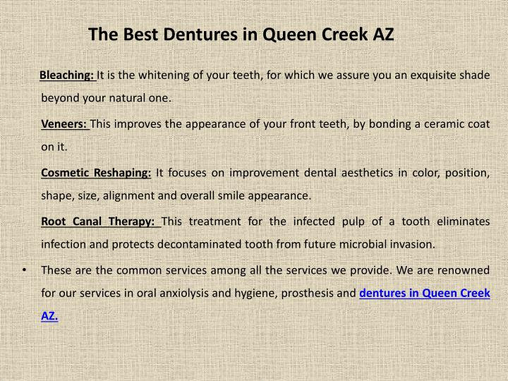 The Best Dentures in Queen Creek AZ