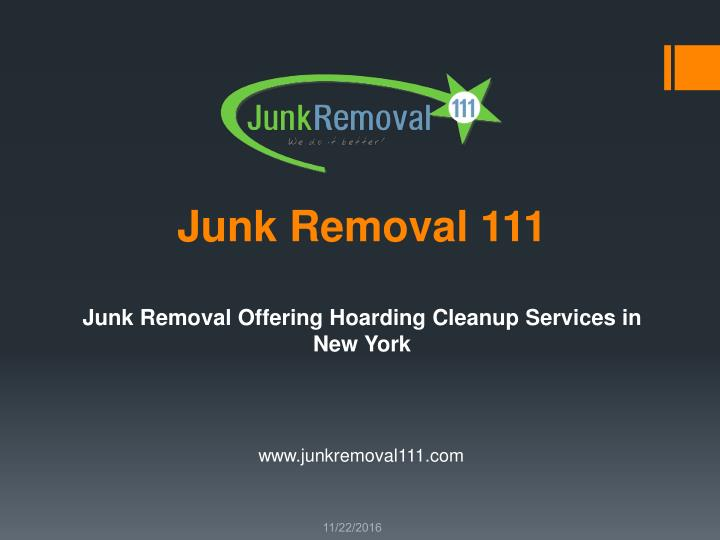 Junk removal 111