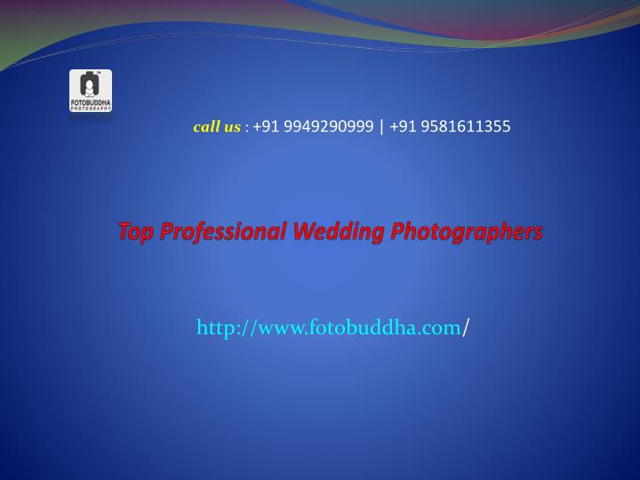 Top professional wedding photographers