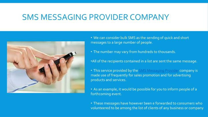 Sms messaging provider company