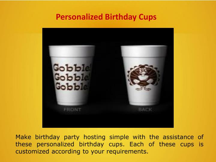 Personalized Birthday Cups