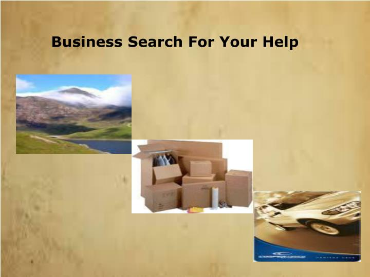 Business Search For Your Help