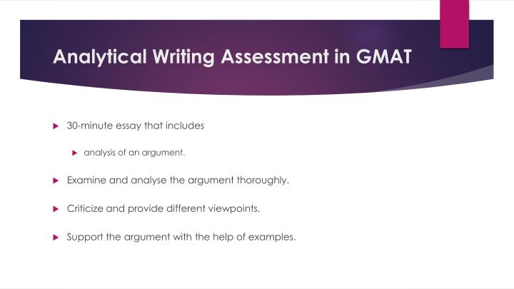 Analytical writing assessment in gmat