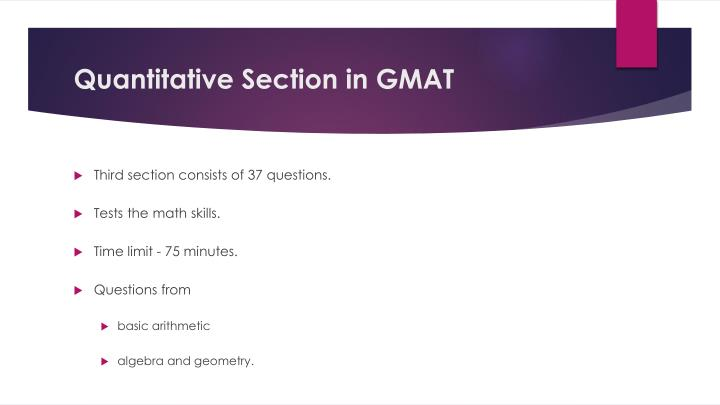 Quantitative Section in GMAT
