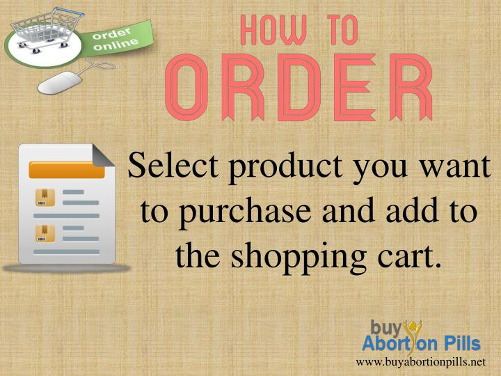 Select product you want to purchase and add to the shopping cart.