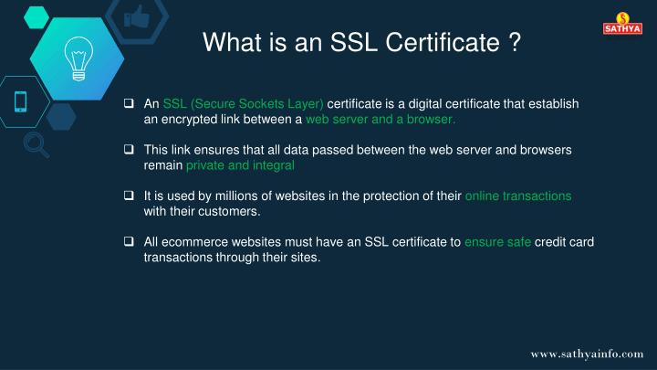 What is an SSL Certificate ?