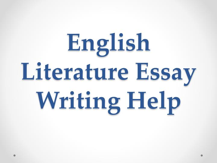 english literature essay writing help
