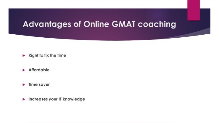 Advantages of Online GMAT coaching