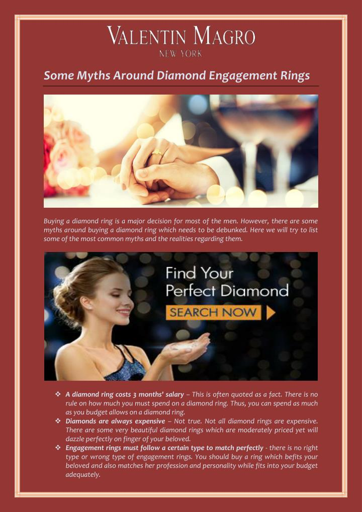 Some Myths Around Diamond Engagement Rings