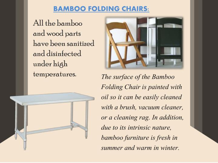 BAMBOO FOLDING CHAIRS: