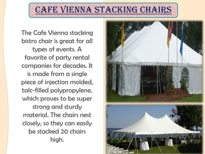 Cafe Vienna Stacking Chairs