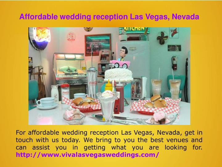 Affordable wedding reception Las Vegas, Nevada