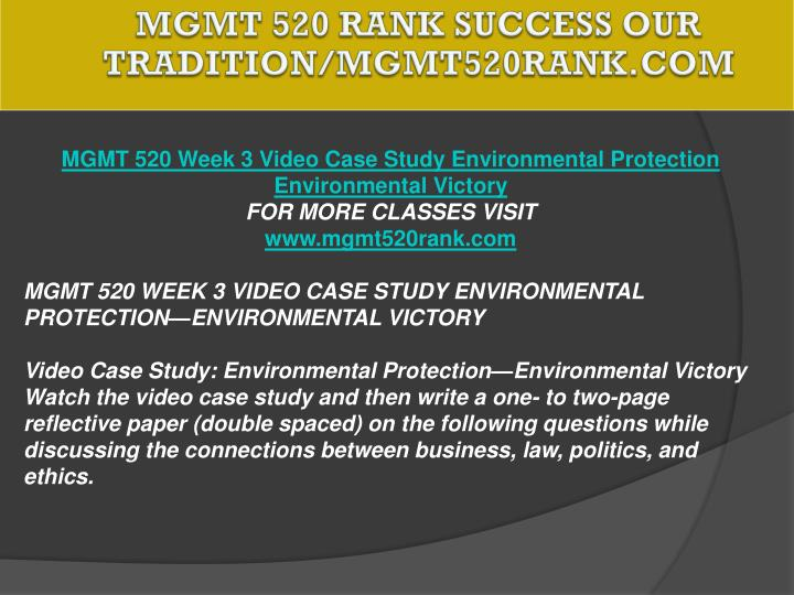 MGMT 520 RANK Success Our Tradition/mgmt520rank.com