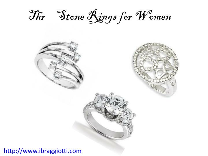 Three Stone Rings for Women