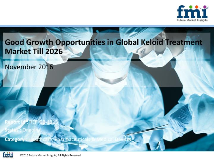 Good Growth Opportunities in Global Keloid Treatment