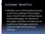 customer benefits