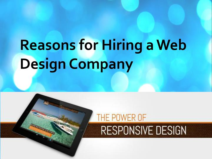 Reasons for Hiring a Web Design Company