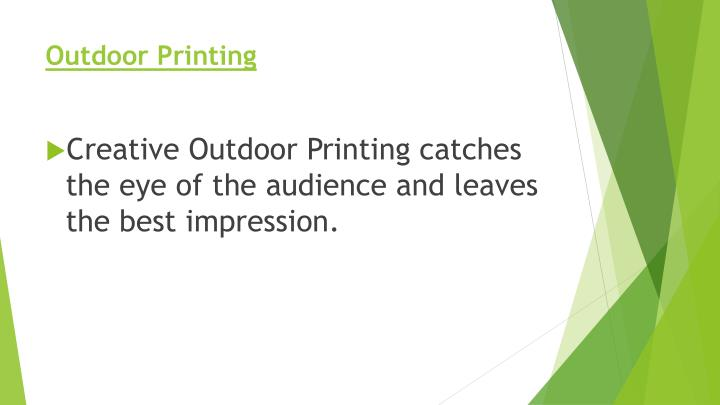 Outdoor Printing