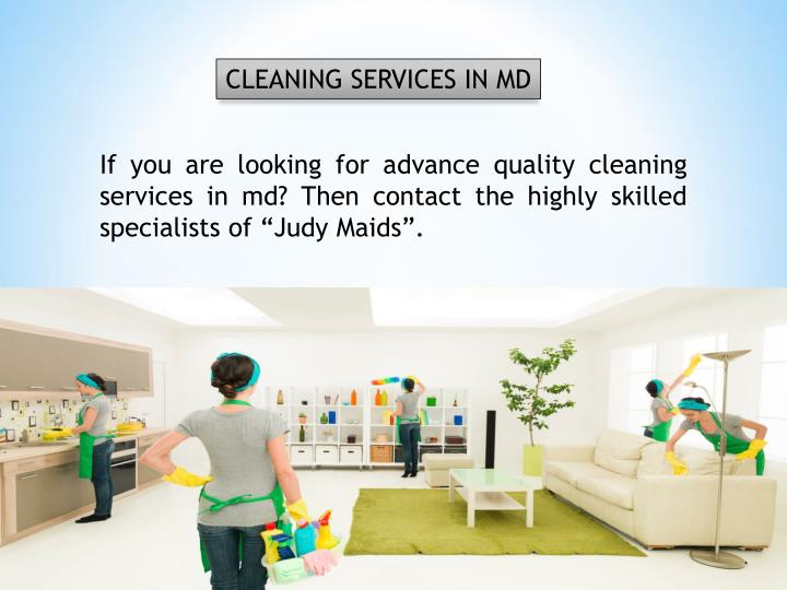 CLEANING SERVICES IN MD