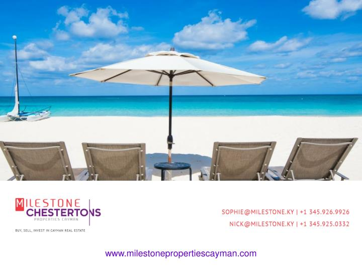 WELCOME TO MILESTONE PROPERTIES CAYMAN